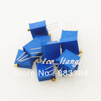 Free Shipping! 3296W-105 1M,20pcs,3296W VR variable resistor ,VR variable resistor ,100R-1M,Electronic Components Package