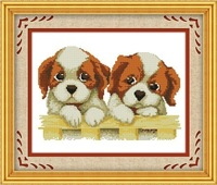 Cross rust Cross stitch new arrival print dog baby series of small dog