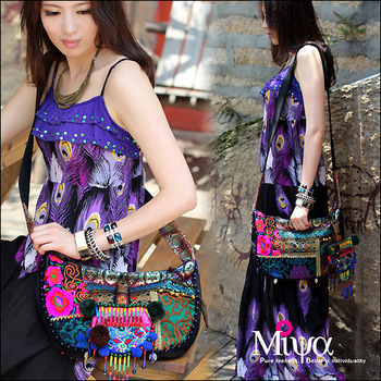 Original ethnic style National wind embroidery trend india small bag messenger bag canvas bag national women's handbag