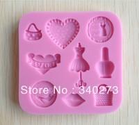 1pcs Purse shaped Chocolate Candy Jello 3D silicone Mold Mould Cartoon Figre/cake tools Soap Mold Sugar craft Cake Decoration