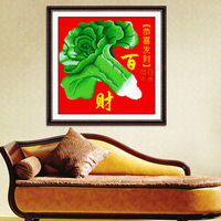 Cross stitch new arrival print series one hundred financial chinese cabbage oholiab one hundred financial