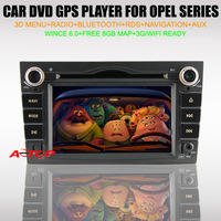 "6.2"" Car DVD Player for Opel Astra/Vectra/Antara/Zafria(2004-2009) Build in GPS NAVI+TV tuner+BT+IPOD+PIP+RDS+Canbus+Free 8G Map"