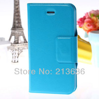 Wallet Case PU Leather Case Cover for iPhone 4G 4S With Holder, Magnet Clasp,  Free Shipping!