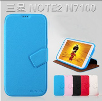 Luxury Case for samsung N7100 cross lines ultra - thin soft shell, 5 Colors package free shipping