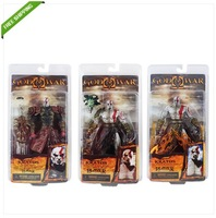 Free Shipping High Quality Cool ! GOD OF WAR KRATOS PVC Figure New In Box in 3  Set of 3