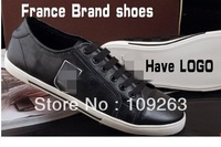 MEN BRNAD shoes leather sneakers France classic Luxury designer boots comfortable Europe style size 39-46 FREE SHIPPING MX#110
