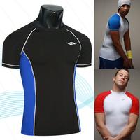 Drop Shipping Support 2013 New arrivals new unisex sport waist corset body sculpting fitness-sleeved T-shirt ,M-XXL,SC09
