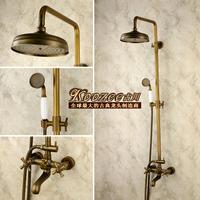 Fashion american vintage black antique shower heads lift copper set drawing bathroom faucet