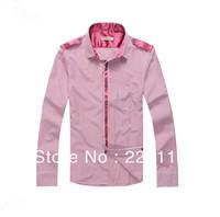 Free shipping New Arriver Men Clothes Fashion 2013 Plaid Mens Shirts men's slim fit Shirt 035