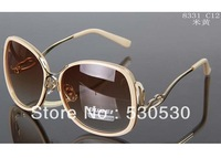 2013 New Grace Beauty Ladie Sunglasses Metal Carve Templees Fashion Sun Glasses +Mixed Colors+20pcs/lot+Free Shipping
