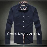 Free shipping New Arriver Men Clothes Fashion 2013 Plaid Mens Shirts men's slim fit Shirt MP002