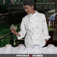 FREE SHIPPING chef suit kitchen suit restaurant suit Work wear work wear chefs uniform meters cook suit