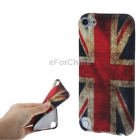 Fashion Retro Style United Kingdom Flag Pattern TPU Case For iPod touch 5