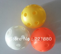 Wholesale golf plastic range balls with three colors and diameter of 42MM with free shipping
