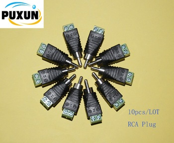 Freeshipping 10pcs Coax CAT5 to CCTV Camera  RCA  Male Connector, RCA  Connector Plug for CCTV Cable07