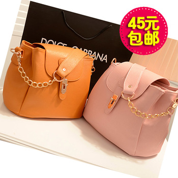 2013 vintage chain bucket bag one shoulder cross-body portable women's handbag bag