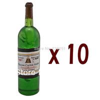 Lot/Set 10 White Red Wine Bottle 1:6 for Monster High Doll's House Dollhouse Miniature (12514)