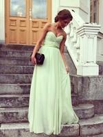 Simple Beautiful Real Sample Sweetheart Floor Length  Evening  Dress Prom Homecoming  Dresses