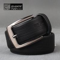 Heterochrosis 2011 humpbacks male black cowhide fashion business casual belt pin buckle strap