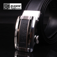 Strap male genuine leather automatic buckle the broadened cowhide belt heterochrosis camel fashion commercial the trend of the