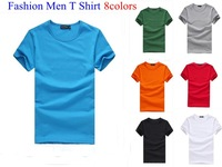 Promotion!2013 hot free shipping Men clothes t shirt high-elastic cotton men's short sleeve O neck tight shirt male T-shirt