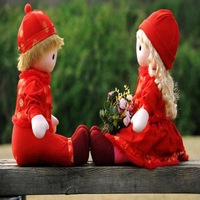 Humanoid doll cloth doll a pair of
