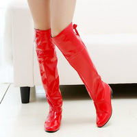 Free shipping Hot-selling red wear-resistant slip-resistant japanned leather dance patent leather 61 25pt boots women boots
