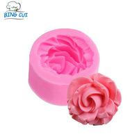M-014 3D Rose Flower Resin Soap Molds For Soap Valentine's day Candle Jelly Cake Craft Cutter Handmade Soap Baking Tool