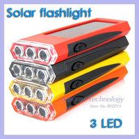 3 LED Portable Solar Panel Power Torch Flashlight Climbing Camping Light