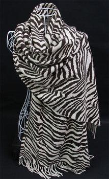 Kaka cashmere zebra print scarf large cape thick shawl unisex shawl