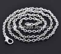 "Free Shipping! 12 Silver Plated Lobster Clasp Cable Link Chain Necklaces 18"" B12716 (B12716)"