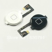 home button attached flex cable for iphone 4 Black&White(free shipping with tracking number)