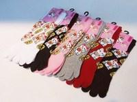 6pairs/lot free shipping Lucky cat 5 five fingers socks 5 toe socks  thickness knee-high cotton short cartoon socks