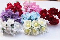Free shipping artificial flowers wedding decoration Garlands jewelry accessories handmade cherry small stain flower