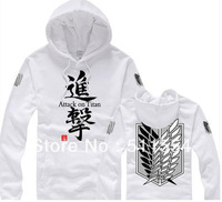 Free Shipping Attack On Titan Cosplay Costume Shingeki No Kyojin Hoodie Women & Men Sweater Hoody 2 Styles