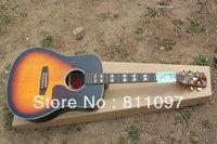 New J45 veneer 41 inch acoustic guitar sunset color fillet