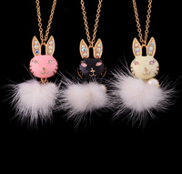 Accessories jewelry female rabbit design long necklace