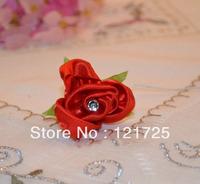 Free shipping Satin flower DIY wedding decoration corsage headdress flower decoration home artificial flowers crafts