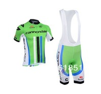 2013 cannondal pro Team Green Cycling clothes /Cycling Jersey ,Short-sleeved Bib Shorts Free shipping!957