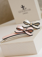 Fall in love high quality side-knotted bow clip hairpin hair accessory