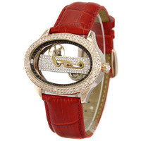Davena classic cutout mechanical watch women's lady fashion table vintage table rhinestone table