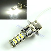 high quality New Pure White Car H3 3528 SMD 28 LED Head Fog Light Headlight Bulb Lamp