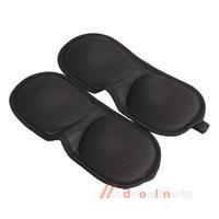 2PCS 3D Sleeping Eyeshade Eye Mask Blindfold Cover Soft Blind Pack Travel  M3AO