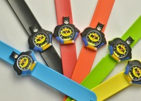 W100020#  Mixed colors  Cartoon Slap 3D Quartz Watch Suitable for kid from 5 to 12 years old Newest Free shipping