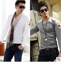 Free Shipping 2013 Hot Sales Special Offer Men's Full T-Shirt Casual T-Shirt 3 Colors 1pc/lot