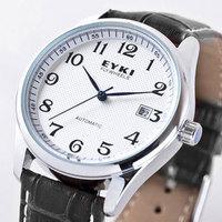 Ikey eyki men's fully-automatic mechanical watch brief calendar steel strip male watch