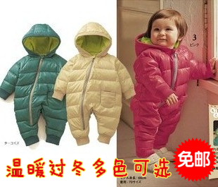 In stock ! 2013 New Arrive Retail fashion baby romper for winter cotton padded one piece children kids jumpsuit 6m-2yrs 2color