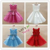 2013 New High Grade Girl's Holiday Dresses HOT Roses Sleeveless Evening Dress Ball Gown 6 pcs lot XJ1003
