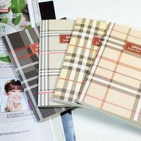 High quality product korea stationery plaid stitch book soft copy notebook 55g