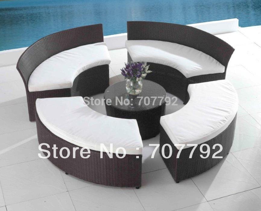 patio seating set outdoor terrace furniture circular patio furniture